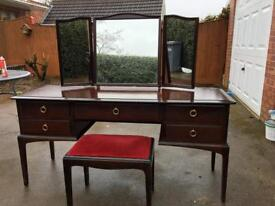 Stag mahogany dressing table and stool