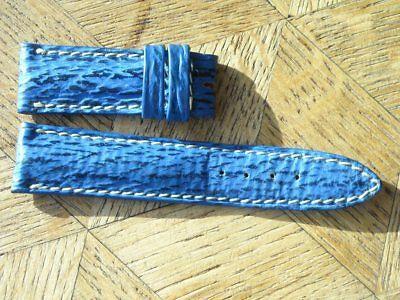 MDG Vintage N.O.S. BREITLING 18 mm. Blue MINI Leather strap. N°7.