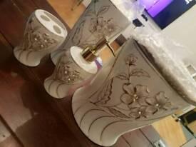 6pc Diamonte porcelain bathroom set