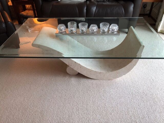 Furniture Village Glass Topped Coffee Table In Rainford Merseyside Gumtree