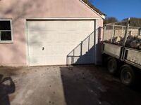 10ft x 7ft Electric Garage Door 2 x remotes