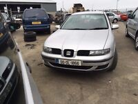 2000 1.9 TDI Diesel Seat Toledo. Breaking for parts only Postage Nationwide