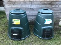 2 x compost bins