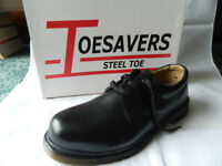 Toesavers Steel Toe Safety Shoes Size 8 Brand New