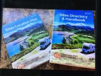 Caravan Club site directory and map.