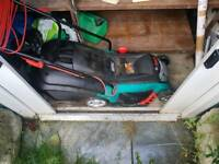 Bosch 240v lawnmower in good working order