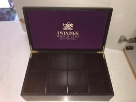 Collectable rare twinnings tea storage box tray