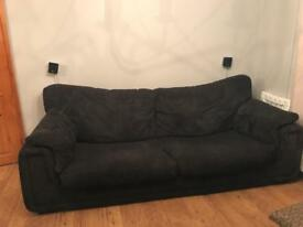 DFS black 4 seater sofa