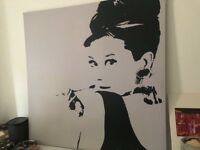 Audrey Hepburn large format printed canvas picture IKEA