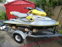 2001 SEADOO XP LTD. JETSKI,16-HOURS,MINT,ROLLER TRAILER,DATATAG/MANUAL.