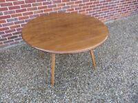 Genuine Ercol Mid Century Kitchen Round Drop Leaf Table