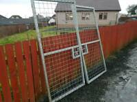 Choice of two 6x3 galvanised mesh gates suit farm stables dog run etc tractor