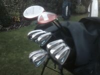 Golf clubs-Taylormade Driver-Taylormade 3 Wood, Hippo Irons, plus Putter-Golf Bag-glove-balls & more