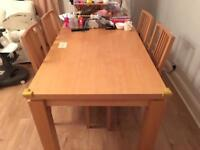 1 dining table and 4 matching chairs