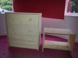 ikea rast draws and bedside table