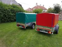 NEW Car trailers 6' x 4' 1,2 WITH COVER FIX PRICE £540 inc vat