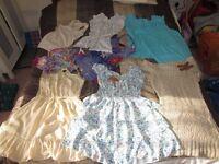 beautiful clothes bundle size 8/10 ( S) dresses, tunic, tops