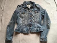 H&M ladies jeans jacket Sz 10 used £4
