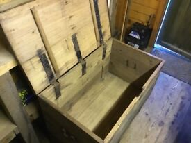 Large old wooden chest