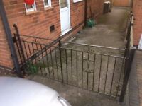 Wrought iron gates brackets panels and posts