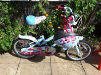 "Apollo Cherry Lane Kids' Bike - 16"" in good condition"