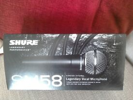 SHURE SM 58, MICROPHONE &STAND. (NEW)