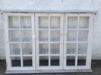 Georgian style wooden frame with sealed units (128 cm h x 180 cm w )