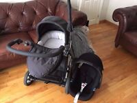 Mamas & Papas Travel System (Stroller, Car Seat, Bassinet, Umbrella)