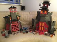 PLAYMOBIL SECRET DRAGON FORT 5480 & GREAT ASIAN DRAGON CASTLE 5479 @ Childs Boy Girl Play Toy Set