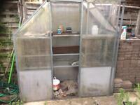 Steel Framed Greenhouse 1770 x 640