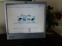 "HP 17"" LCD Monitor with built in speakers"