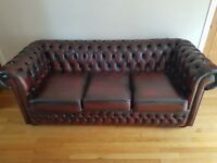Three seater sofa set with foot stool