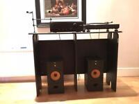 Glorious mix station black-dj stand/desk turntables dj vinyl deck mixstation