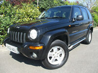 2002 JEEP CHEROKEE 2.5 CRD LIMITED EDTION BLACK NEW MOT 2WD & 4WD TOW BAR GRAND