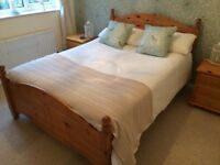 Solid Pine Double bed and Cool Touch memory foam Mattress