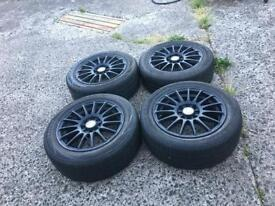 4x100 4x108 multifit alloys with 195/55/15 tyres