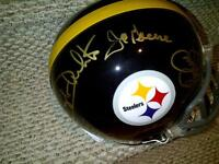 Steel Curtain Autographed Steelers Full Size Authentic Helmet