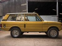 CLASSIC CARS WANTED! RESTORATION PROJECTS, RANGE ROVER LANDROVER, CITROEN AND OTHERS!