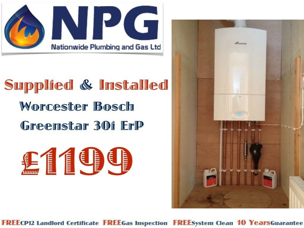 Combi Boiler Worcester Bosch Greenstar 30i ErP SUPPLIED & FITTED Fom £1199 (RRP £4K) Staffordshire