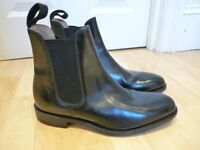 Hoggs Lundin Chelsea boots in genuine black leather 7.5 7 1/2