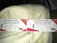 2 tickets for Joshua fight lower tier