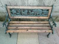 Children's Wrought Iron Animal Garden Bench