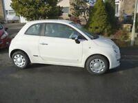 Fiat 500 in white