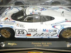 porsche 911 gt1 le mans 1998 25 1 18 scale maisto gt. Black Bedroom Furniture Sets. Home Design Ideas