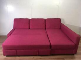 Beautiful Pink corner sofa bed with free delivery within 10 miles
