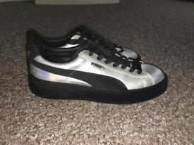 Puma basket iridescent trainers