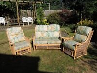 Cane three piece suite by The Cane Industries UK Ltd