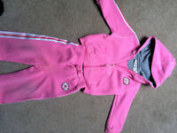 Pink converse track suit - size 6 - 9 months.