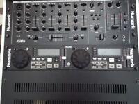 DISCO/KARAOKE/VIDEO DJ MIXER & DUAL CD PLAYER