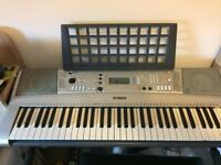 Yamaha electric keyboard with stand and stool